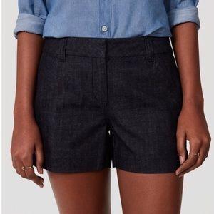 """LOFT Riviera Dark Wash Denim Shorts 4"""" Inseam"""